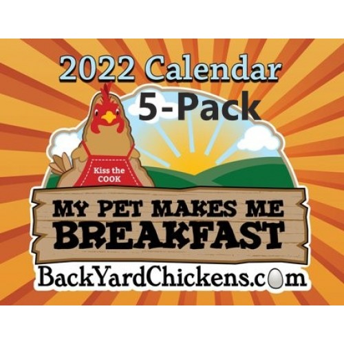 PRE-ORDER-2022 BackYardChickens Five Calendar Gift Pack-Free US Shipping