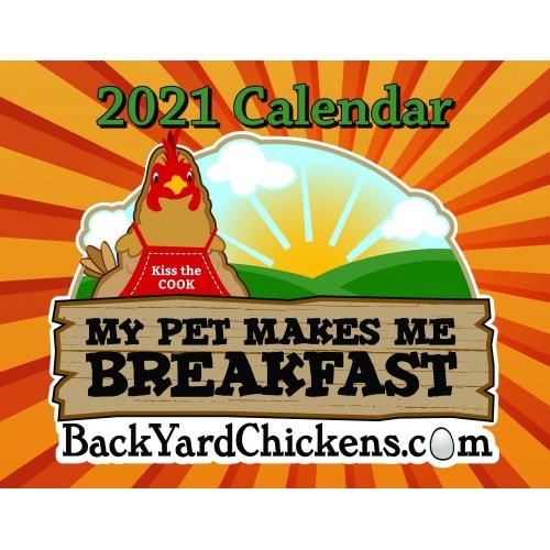 2021  BackYardChickens Calendar-Free US Shipping