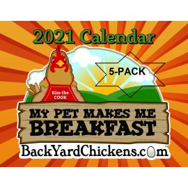2021 BackYardChickens Five Calendar Gift Pack-Free US Shipping