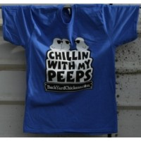 Chillin With My Peeps Unisex Tee- Blue Heather