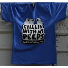 Chillin With My Peeps Unisex Tee- Blue Heather