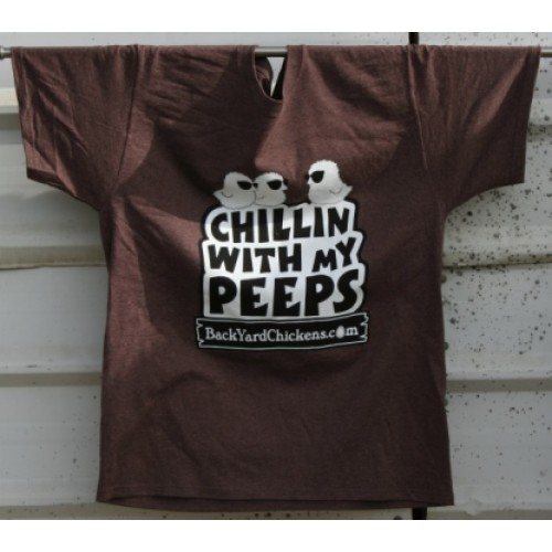 Chillin With My Peeps Unisex Tee- Brown Heather-Free US Shipping