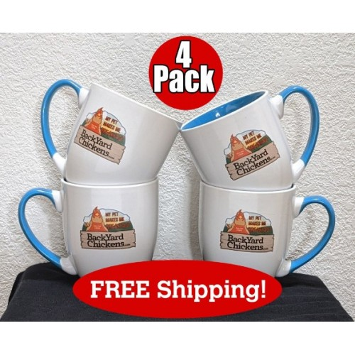 4 pack BYC Coffee Mug - FREE Priority US Shipping